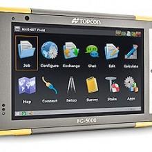 Topcon presenta el controlador de datos FC-5000