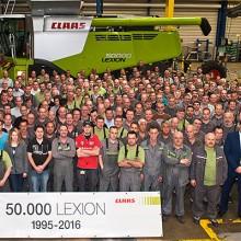 Claas celebra la unidad 50.000 de su cosechadora Lexion