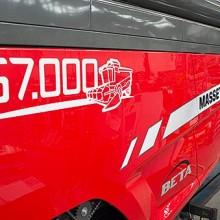 Massey Ferguson celebra la producción de la unidad 67.000 de sus cosechadoras