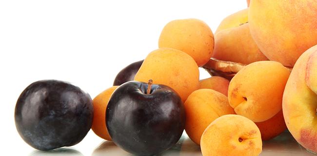 Cosecha de fruta de hueso
