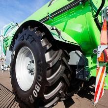 Nuevas medidas del neumático para cosechadora CHO de Mitas