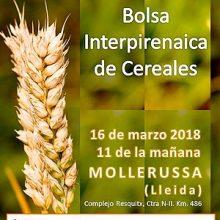 Fira de Mollerussa abre las inscripciones para la 17ª Bolsa Interpirenaica de Cereales