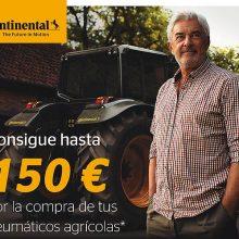 Continental bonifica con hasta 150 euros la compra de sus neumáticos agrícolas