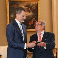 Felipe VI recibe al comité organizador del XIV Congreso Nacional de Comunidades de Regantes