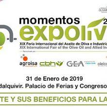 """Jornada Momentos Expoliva 2019: """"El aceite y sus beneficios para la salud"""""""