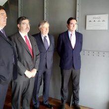 El presidente de la CEOE, Antonio Garamendi, inaugura las nuevas oficinas de AGRAGEX