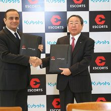 Kubota crea una «Joint Venture» con la compañía india Escorts Ltd