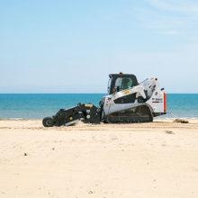 Playas siempre listas y sin plásticos con Bobcat