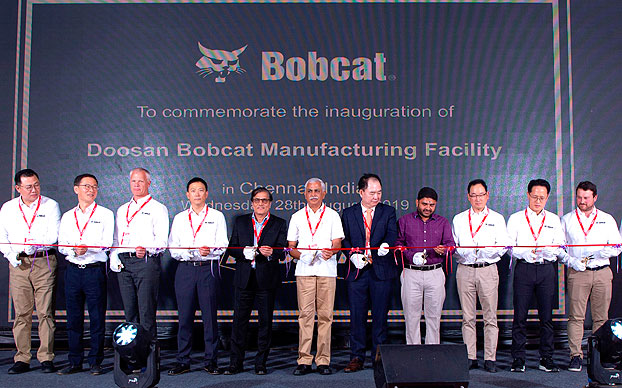 Inauguración de la planta de Bobcat en la India