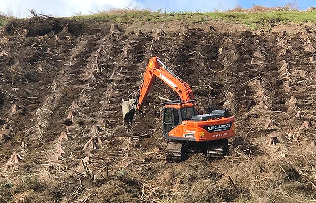 Excavadoras Doosan para trabajos forestales