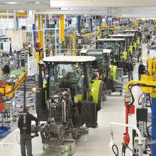 Claas comienza la producción en serie de tractores y cosechadoras