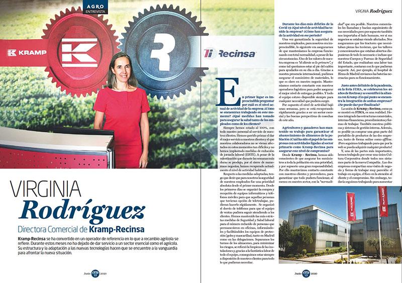 Entrevista Virginia Rodríguez, Directora Comercial de Kramp-Recinsa