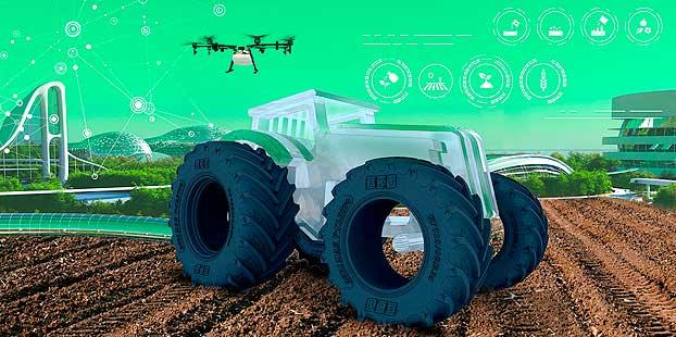 BKT presenta el retrato robot de lo que será el tractor del futuro