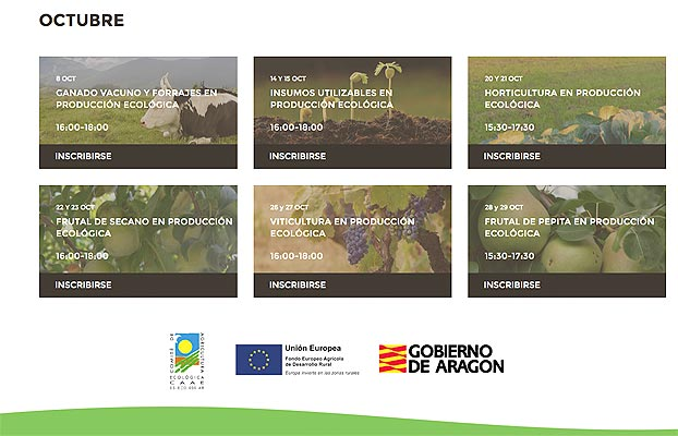 CAAE hace un balance positivo sobre los cursos de formación de producción ecológica.